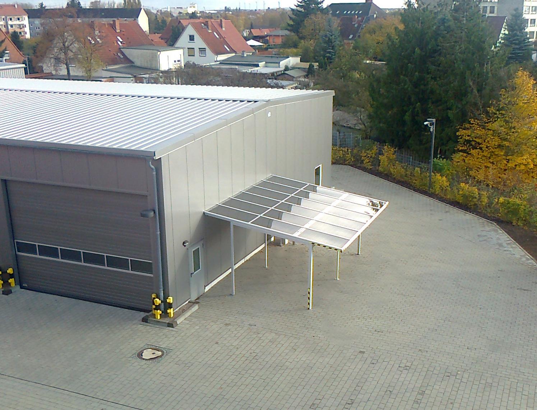 Solarcarport Stadtwerke Guestrow