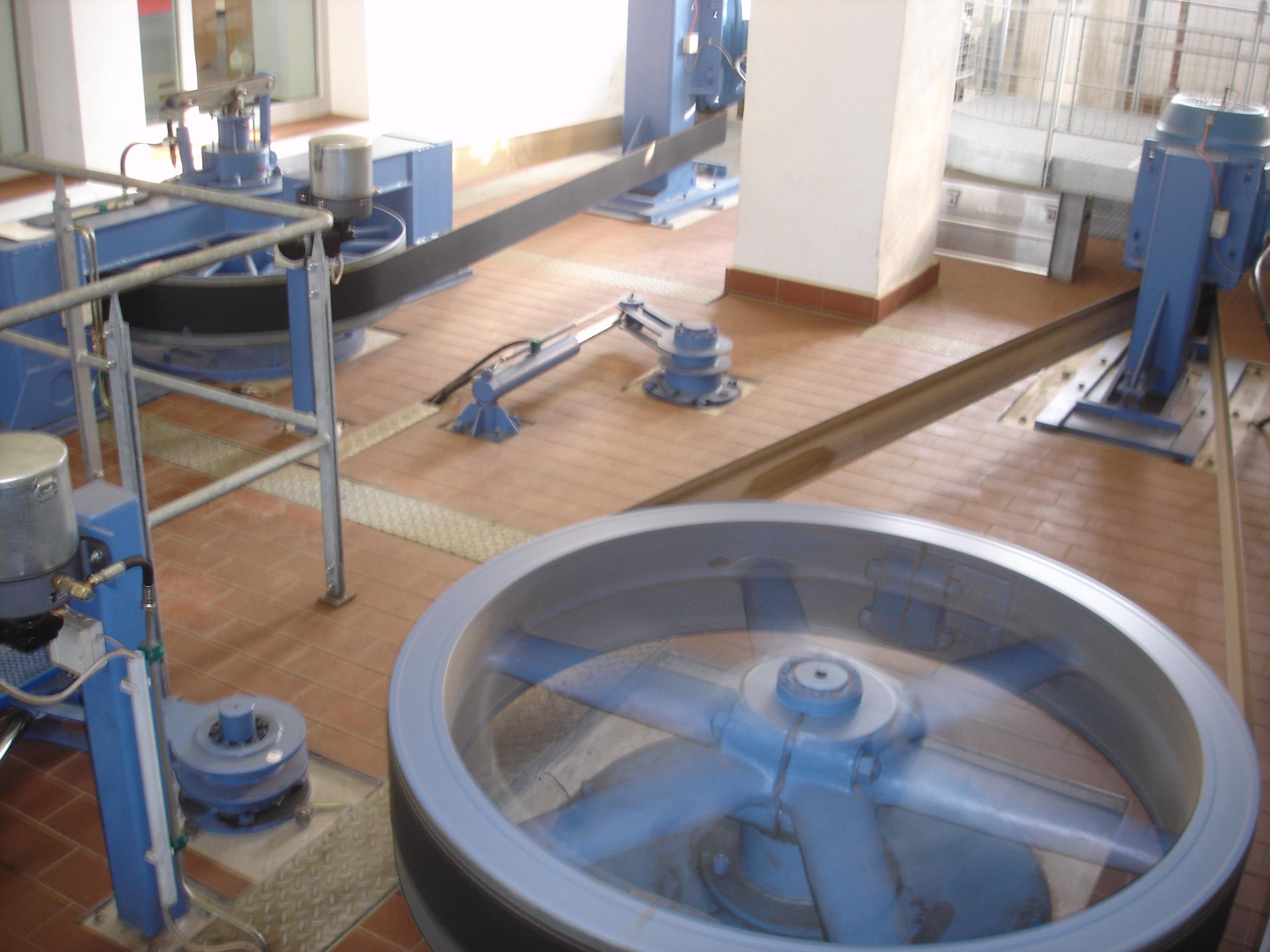 Hydraulik und sich drehendes Rad mit Gleichstromgenerator